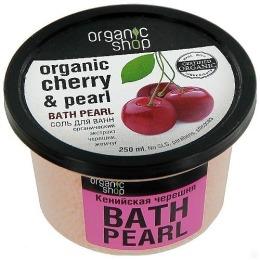 """Organic Shop соль для ванн """"Кенийская черешня"""", 250 мл"""