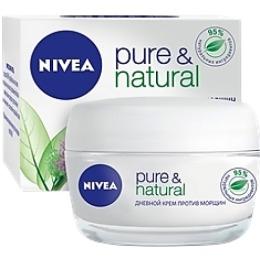 """Nivea крем для лица """"Pure Natural"""" дневной, против морщин, 50 мл + корона"""
