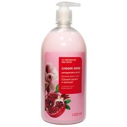 """Le Vernissage Des Fruits крем-мыло для рук и тела """"Сочный гранат и орхидея"""" нежное, 1 л"""
