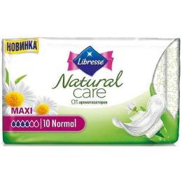 "Libresse прокладки ""Natural Care Maxi Normal"" гигиенические, 10 + 4 шт"