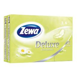 """Zewa платки носовые """"Делюкс"""" 3 слойные спайка 6 шт с ароматом ромашки, 1 шт"""