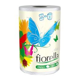 """Aster бумажные полотенца """"Fiorella"""" 3 слойные, тон белые, 1 рулон"""