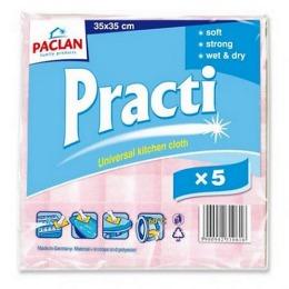 "Paclan тряпка ""Универсальная для кухни PRACTI 33*35 см"", 5 шт"