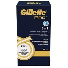 """Gillette бальзам после бритья 3 в 1 """"Pro Gold. Мгновенное увлажнение spf+15"""", 50 мл"""
