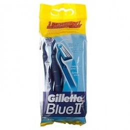 """Gillette станки одноразовые """"BLUE II"""" с увлажняющей полоской, 10 шт"""