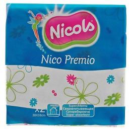 "Nicols салфетки ""Premio"" универсальные вискозные, 2 шт"