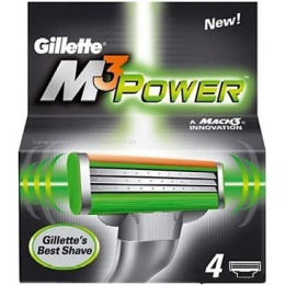 "Gillette сменные кассеты ""Mach 3 Power"", 4 шт"