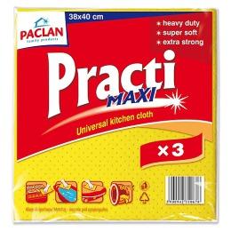 "Paclan салфетки ""Practi Maxi"" 180x200 мм для влажной уборки, 3 шт"