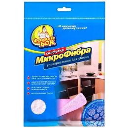 Фрекен Бок салфетка универсальная для уборки с микрофиброй, 1 шт