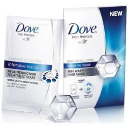 """Dove маска для волос """"Hair Therapy. Интенсивное восстановление"""" самонагревающаяся, 20 мл"""