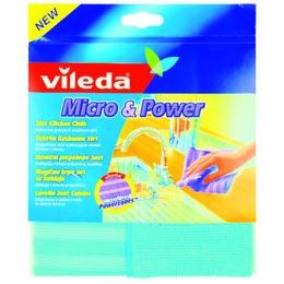"""Vileda салфетка """"Micro & Power. Блеск и чистота"""" усиленная нейлоном, 1 шт"""
