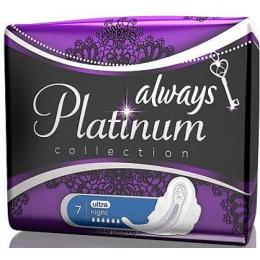 """Always прокладки """"Platinum collection. Ultra night"""" гигиенические, 7 шт"""