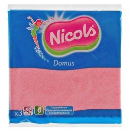 """Nicols салфетка """"Domus"""" губчатая, 3 шт"""