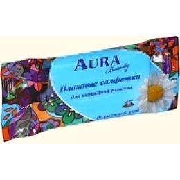 Aura влажные салфетки для интимной гигиены, 15 шт