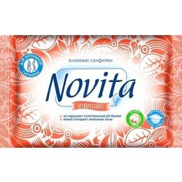 Novita влажные салфетки для интимной гигиены, 15 шт
