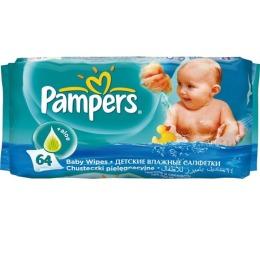 Pampers салфетки детские сменный блок, 64 шт