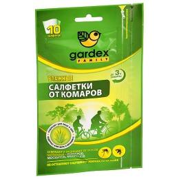 Gardex салфетки влажные от комаров, 10 шт