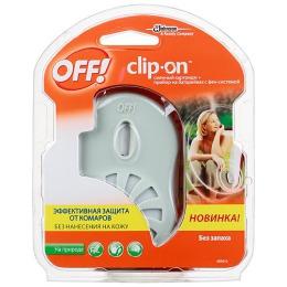 """Off! Прибор с фен-системой и сменным картриджем """"Clip-On"""", 100 мл"""