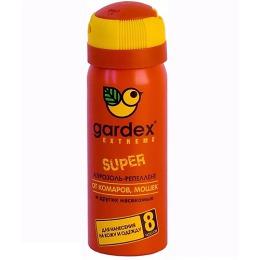 """Gardex аэрозоль-репеллент """"Super"""" от комаров и других насекомых, 80 мл"""