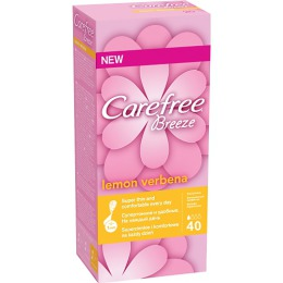 """Carefree салфетки """"Lemon Verbena"""" ежедневные ароматизированные, 40 шт"""