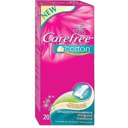"""Carefree салфетки """"Cotton Fresh"""" с экстрактом хлопка, ароматизированные, 20 шт"""