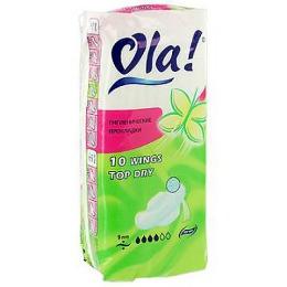 Ola прокладки классические удлиненные с сеточкой, 10 шт