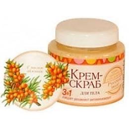 Русское поле крем-скраб для тела масло облепихи, 250 мл