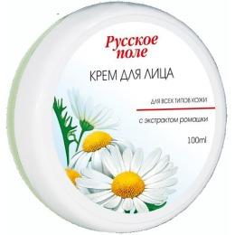 Русское поле крем для лица для всех типов кожи с экстрактом ромашки, 100 мл