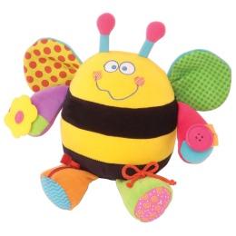 """Мир детства игрушка обучающая """"Ученая пчела"""" с шнуровкой и пуговицами"""