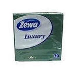 "Zewa салфетки ""Люксури"" зеленые 3-х слойные 20 шт 33х33 см"