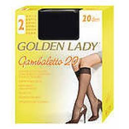 "Golden Lady гольфы ""Gambaletto 20"" 2 пары uni nero"