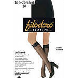 "Filodoro гольфы ""Top comfort 20"" 2 пары nero"