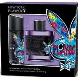 """PlayBoy набор для мужчин """"Playboy new york"""": туалетная вода 100 мл +дезодорант для тела 150 мл"""
