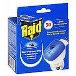 Raid фумигатор с регулятором интенсивности + жидкость против комаров 30 ночей