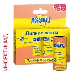 Mosquitall липкая лента защита от мух, 4 шт