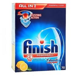 "finish лимон таблетки для посудомоечных машин ""All in 1"", 70 шт"