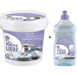 """Meine Liebe набор """"Для посудомоечной машины"""" порошок 1000 г + ополаскиватель 500 мл"""