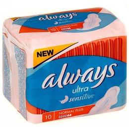 """Always прокладки """"Normal Plus Single"""" женские гигиенические, 10 шт"""