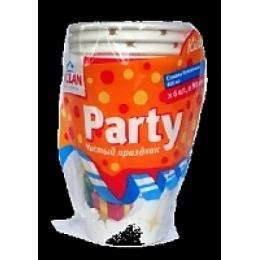 "Paclan стакан бумаж с ручкой с рисунком ""Party  kids"" 250 мл 6шт уп"