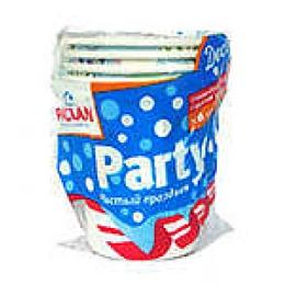 """Paclan стакан бумажный """"Party"""" с ручкой 180мл 6 шт уп"""