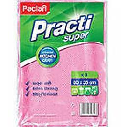 """Paclan салфетка для уборки """"Practi super big"""" 50х35 см 3 шт"""