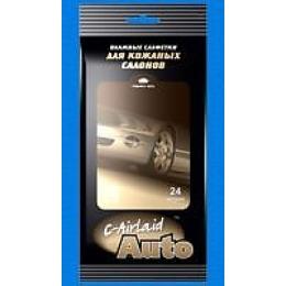 C-Airlaid влажные салфетки для кожанных салонов 20 х 24 см 24 шт