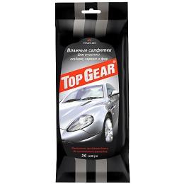 Top Gear салфетки влажные для стекол, фар и зеркал, 30 шт