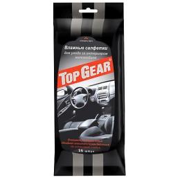 Top Gear салфетки влажные для интерьера для ухода за салоном автомобиля, 30 шт