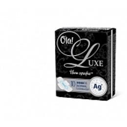 """Ola прокладки """"Luxe гигиенические ультратонкие"""" для нормальных выделений ионы серебра 10 шт"""