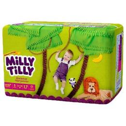 """Milly Tilly подгузники для детей """"Юниор"""" Дневные 11-25 кг ., 17 шт"""