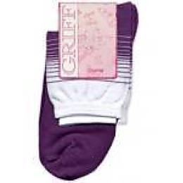 """Griff носки женские """"B511"""" полоска двухцветная, красный"""