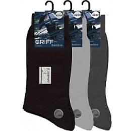 """Griff носки мужские """"Classic bamboo b5"""" всесезонные, светло-серые"""