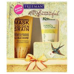 """Freeman подарочный набор """"Совершенство """" (маска для лица с экстрактом Золотых ростков пшеницы 150 мл и Kamill крем для рук Q10, 75 мл )"""