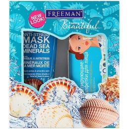 """Freeman Подарочный набор """"Преображение """" (маска для лица с Солями мертвого моря, 150 мл и Cettua матирующие салфетки для лица 50 шт)"""